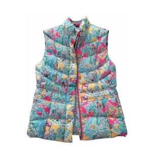 Lilly Pulitzer In the Beginning Puffer Vest Small